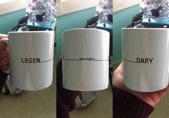 jewels how i met your mother cup barney stinson quote on it mug series himym bag neil patrick harris coffee