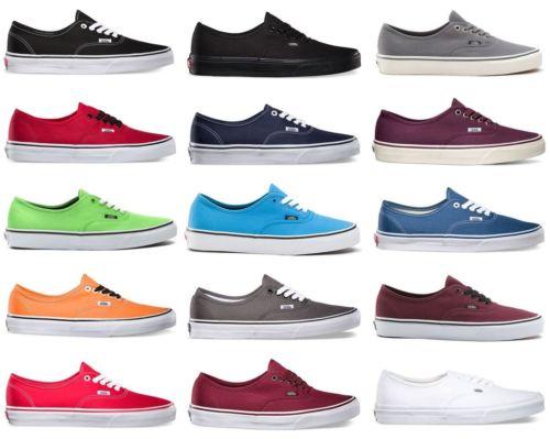 Vans Authentic Canvas Men's Shoe | eBay