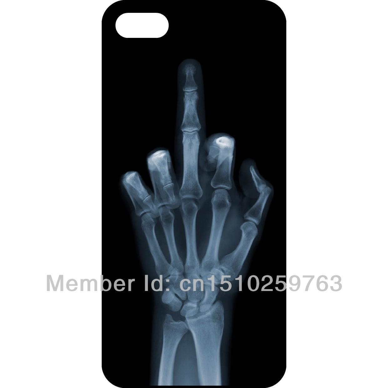 Z027 The Skeleton Middle Finger Funny Pattern Design Hard Case Back Cover Skin For iPhone 5 5S-in Phone Bags & Cases from Electronics on Aliexpress.com