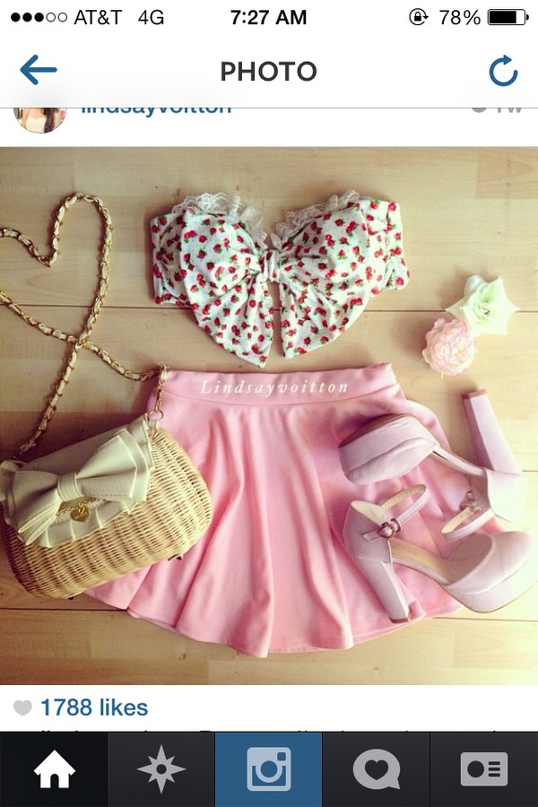 shoes shirt bag blouse skirt