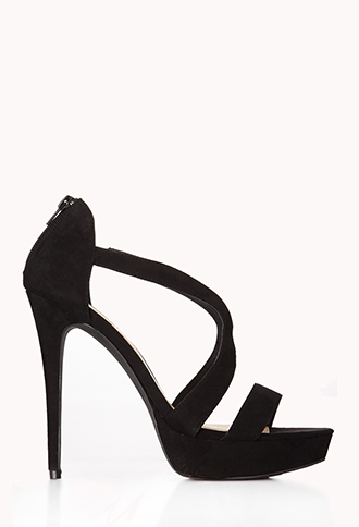 Clear Cut Stiletto Sandals   FOREVER21 - 2079507610