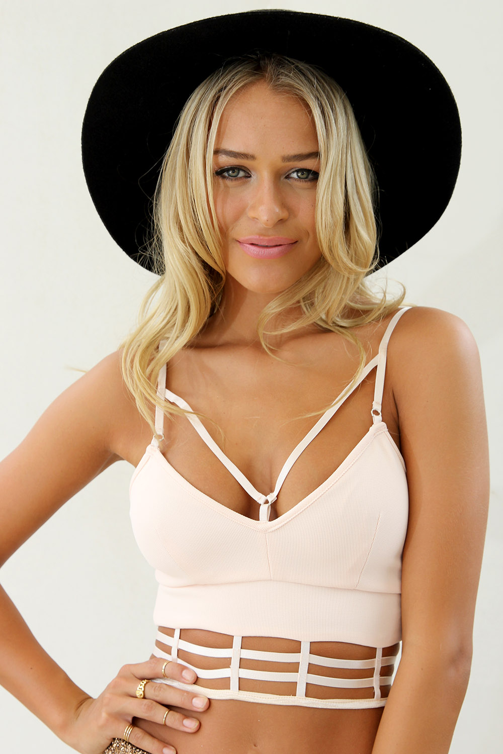 Orange Party Top - Light Peach Fitted Crop Top | UsTrendy