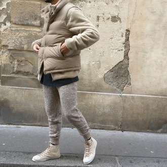 pants wool joggers fall outfits winter outfits
