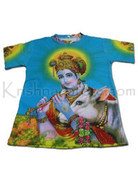 Krishna with Cow All-Over-Print T-shirt for Boys