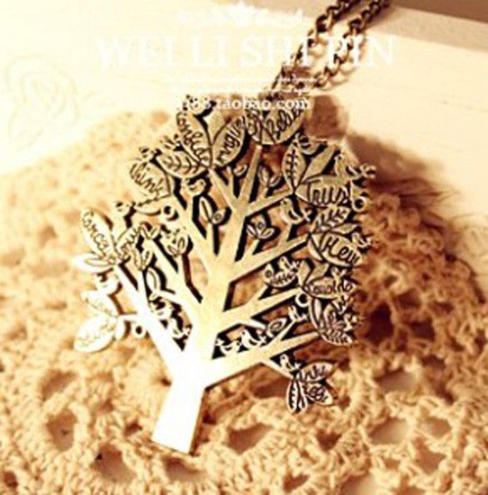Fashion Charm Unique Craft Elaborate Tree Vintage Bronze Necklace Gift Good Luck   eBay