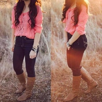 blouse country western cowgirl shoes shorts jeans