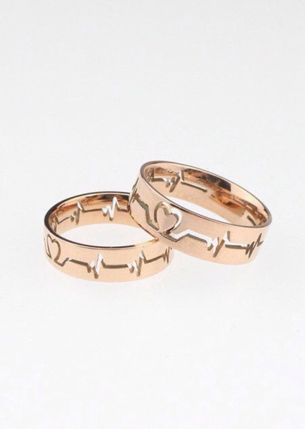 jewels ring heartbeat gold