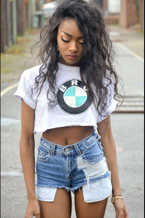 t-shirt dope crop tops jeans shorts
