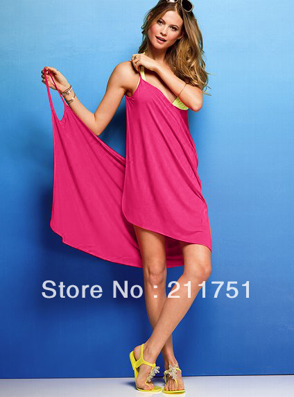 2013 fashion style solid Bikini dress, holiday Beach skirt casual dress free shipping-in Cover-Ups from Apparel & Accessories on Aliexpress.com