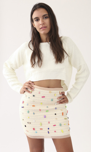 Cropped Sweater - RAW-GIRLS CLOTHING