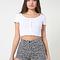 Floral print four-way stretch twill high-waist cuff short | american apparel