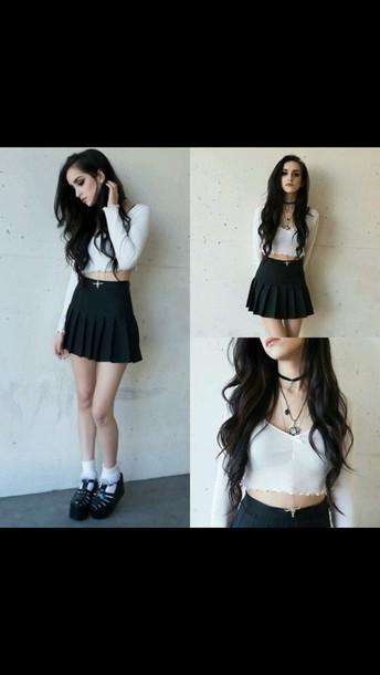 skirt black skirt pleated skirt