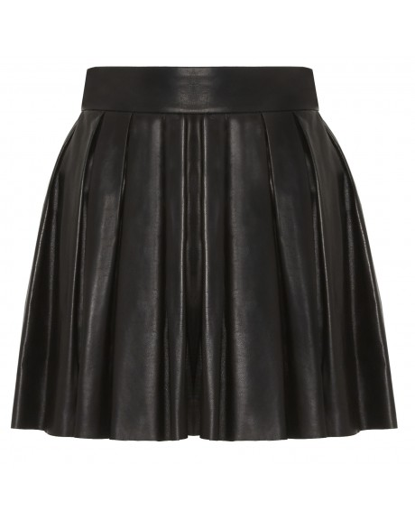 BOX PLEAT LEATHER SKIRT | Alice   Olivia |