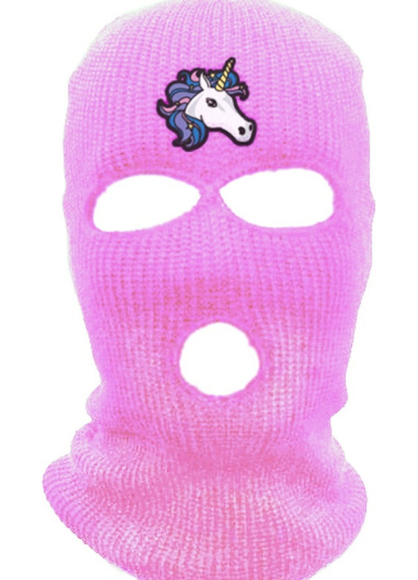 hat springbreakers baclava baclava spring break skimask pink unicorn halloween accessory spring break beanie hot