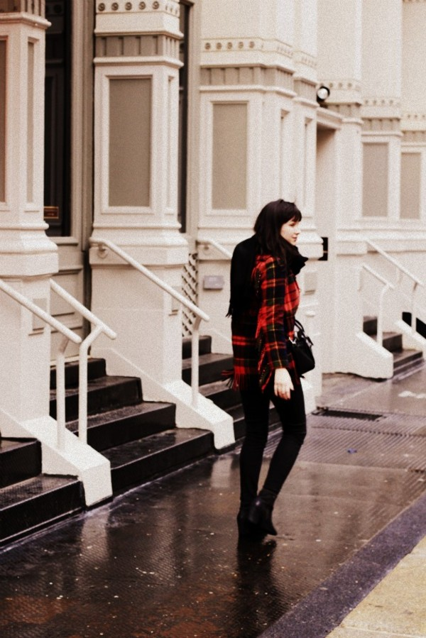 the stylish wanderer jeans shirt coat bag scarf shoes