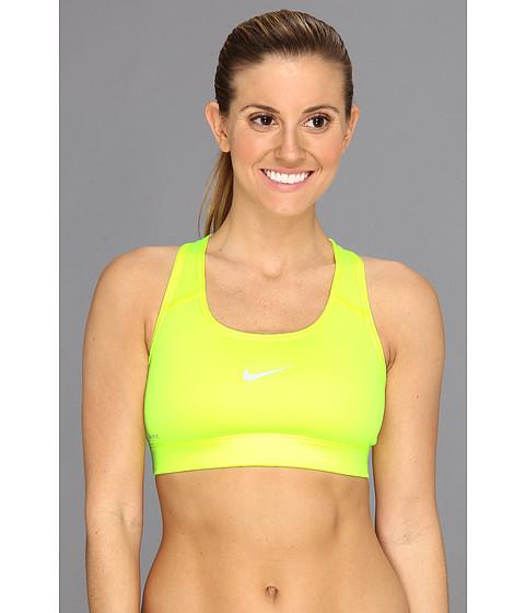 Nike Pro Victory Compression Sports Bra Volt/Dusty Grey - Zappos.com Free Shipping BOTH Ways