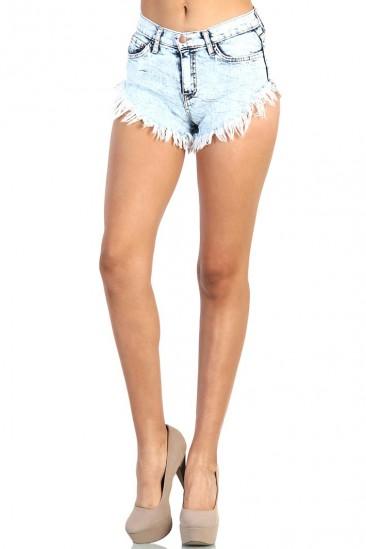 LoveMelrose.com From Harry & Molly   Cutoff Shorts - Light wash