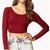 Forever 21 Long Sleeve Crop Top in Purple (BURGUNDY) | Lyst