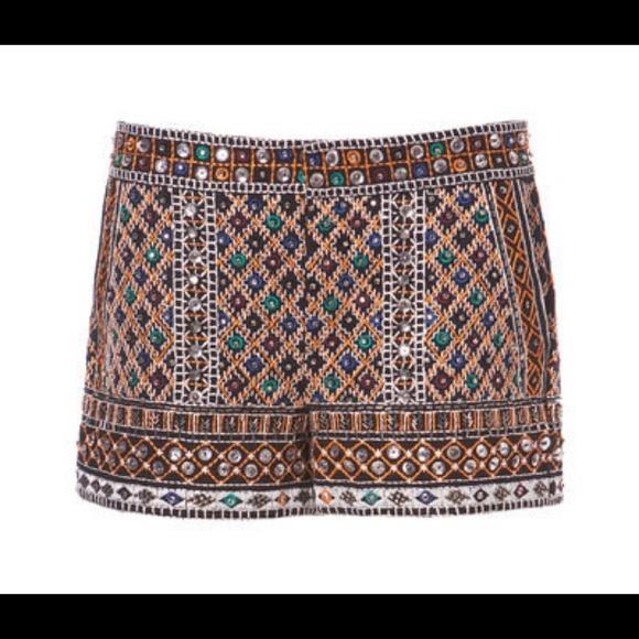 50% off Zara Pants - SOLD Zara embroidered shorts from Hannah's closet on Poshmark