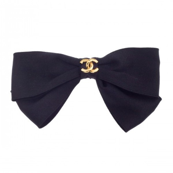 jewels black hair bow chanel