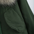 Army Green Faux Fur Hooded Drawstring Coat - Sheinside.com