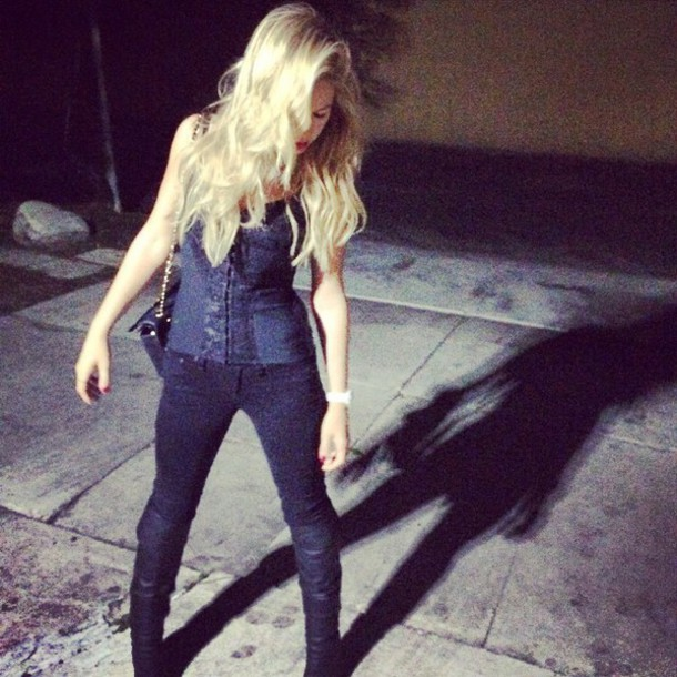 top tank top corset top black jeans black t-shirt tammin sursok