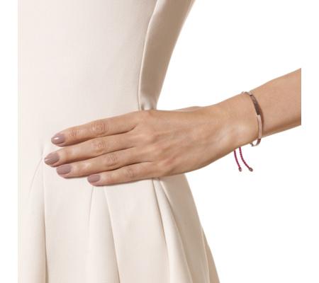 Rose Gold Fiji Friendship Bracelet - Cerise for Love | Monica Vinader