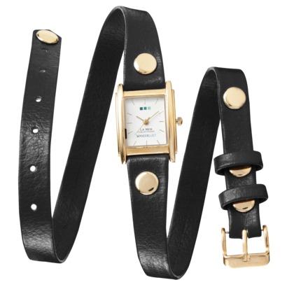 La Mer Triple Wrap Watch - Black : Target