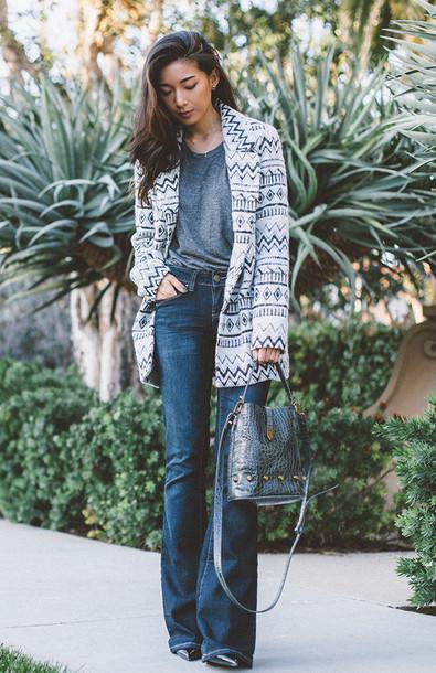 honey n silk blogger jacket jeans t-shirt bag shoes jewels