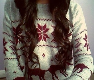sweater jumper deer winter sweater snowflake