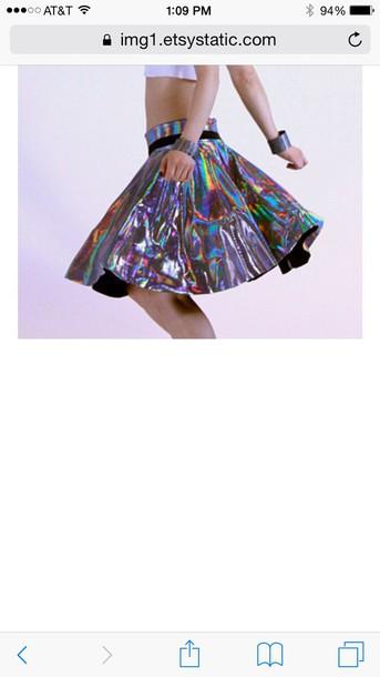 skirt kawaii holographic