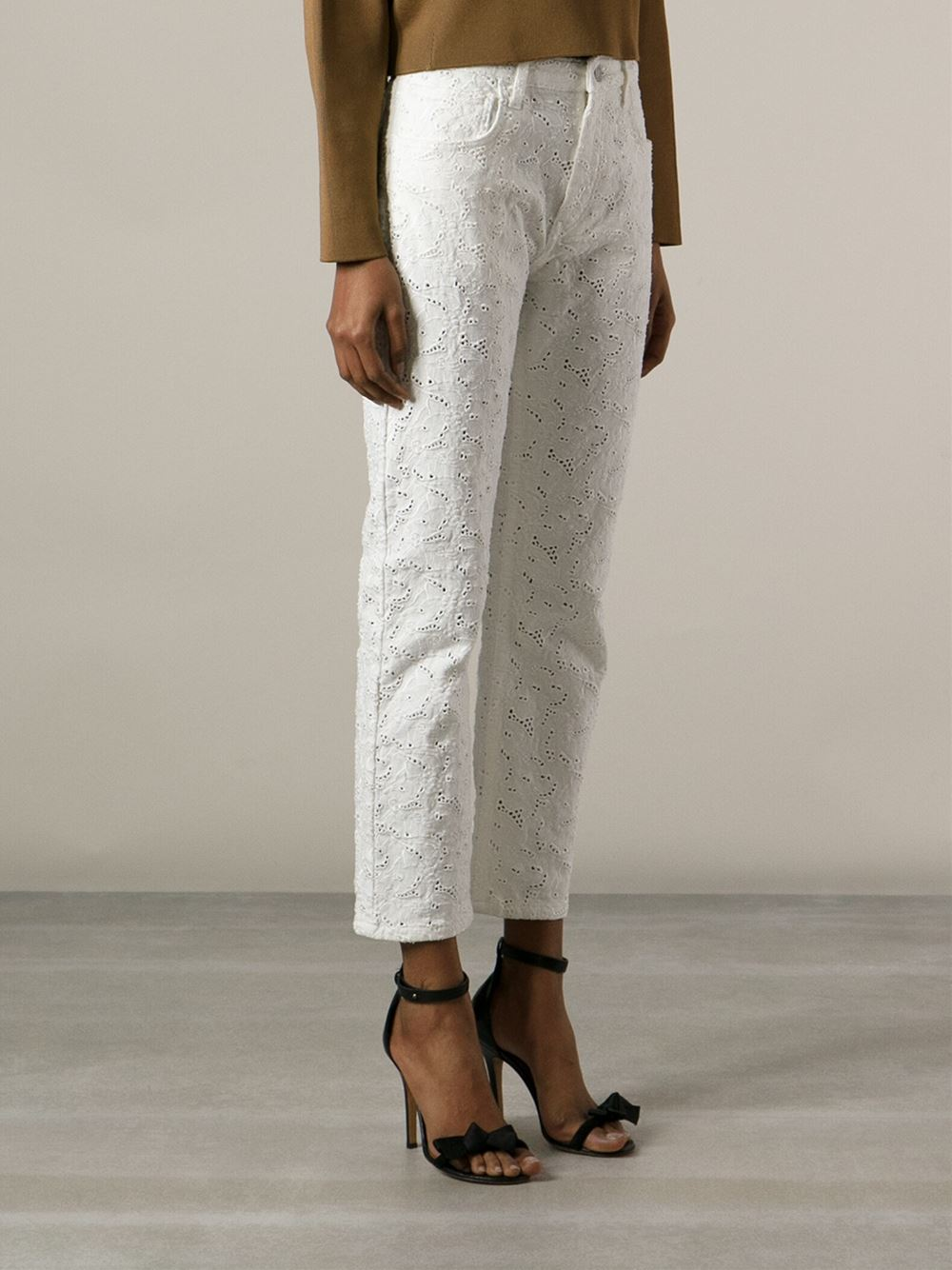 Isabel Marant Étoile Embroidered Crochet Trousers - Fiacchini - Farfetch.com