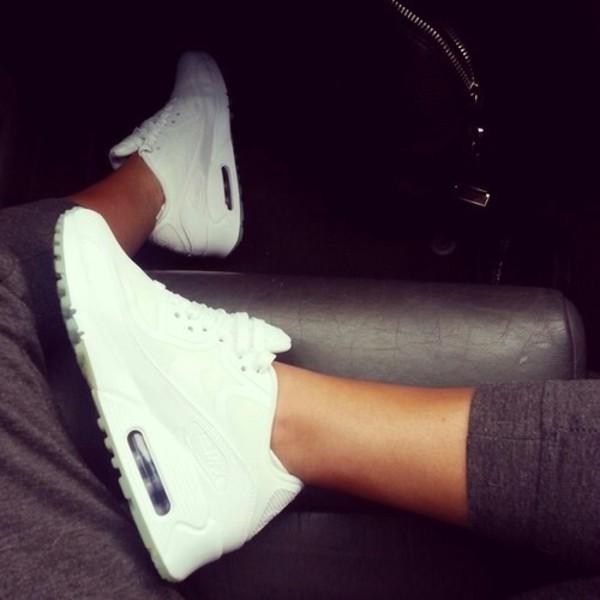 shoes nike nike air air max white nike air max white b&w nike air max 90 sneakers fashion