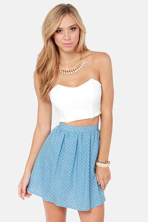 Sexy White Bustier - Structured Top - Crop Top - Tube Top - $28.00