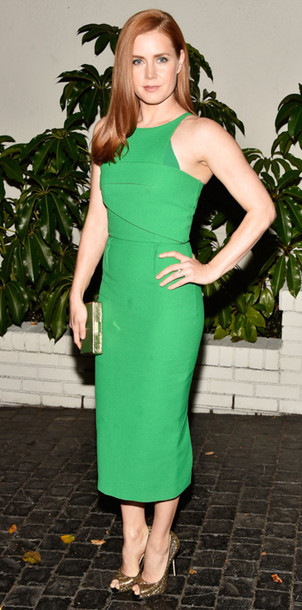 amy adams roland mouret green dress
