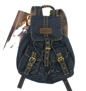 Denim Backpack Schoolbag Super Cute for School in Two Great Colors | eBay