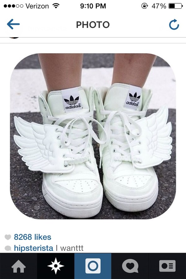 shoes white sneakers wings