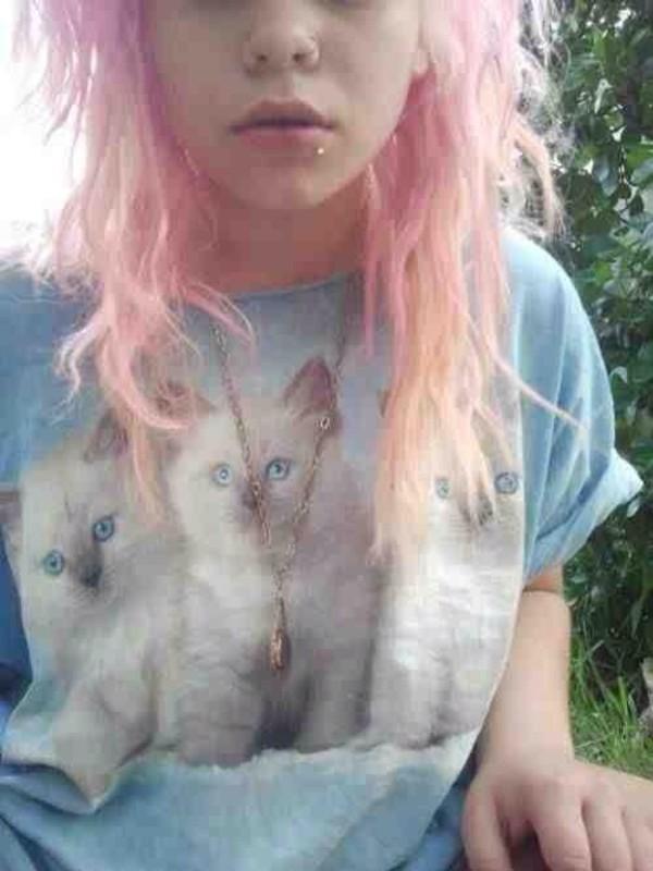 t-shirt cats grunge cute alternative soft grunge pink