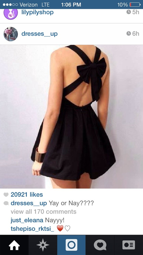 dress little black dress bow