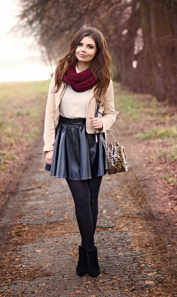 a piece of anna bag skirt jacket shoes