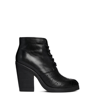 ASOS   ASOS ENOUGH SAID Leather Ankle Boots at ASOS