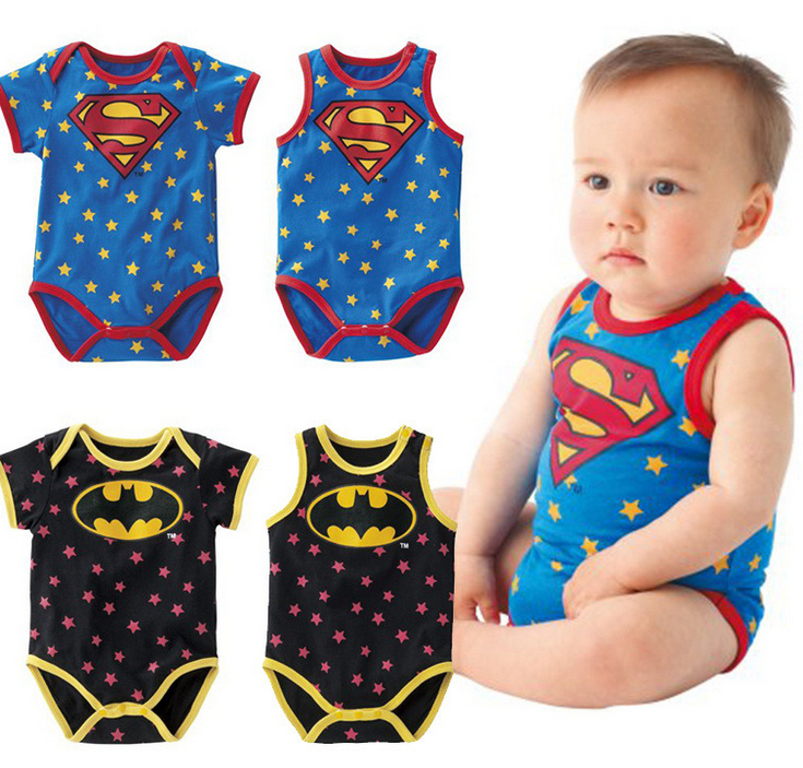 Neuen 2014 baby& kids Superman batman baby kurzen strampler 4 Arten Neugeborenen macacoes de bebe in  von  auf Aliexpress.com