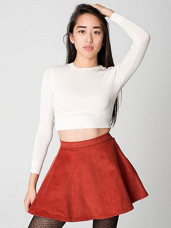 Corduroy Circle Skirt  | American Apparel