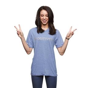 #POSITIVITY TEE Blue x Grey (Medium) - T-Shirts - Online Store - Cybersmile