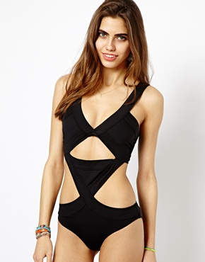 River Island | River Island Bandage Swimsuit at ASOS