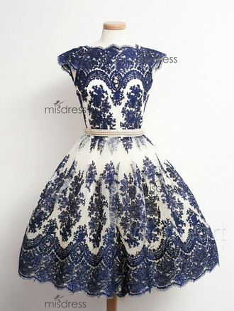 dress vintage navy blue prom dress ball gown lace  prom dresses homecoming dress cute gown for teens juniors short prom dress long prom dress cap sleeves prom dresses