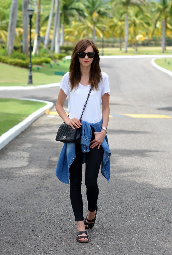vogue haus top blouse shoes bag jewels sunglasses