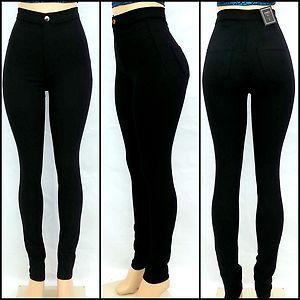 High Waist Rise Black Color Skinny Classic Denim Jean Pants | eBay