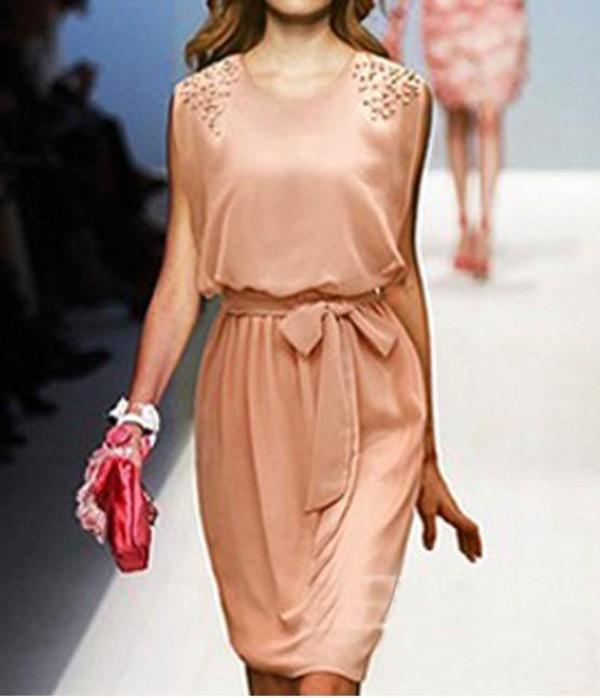 belt dress causal dress summer dress