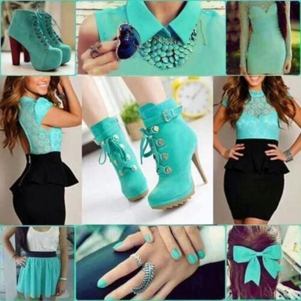 shoes dress shirt skirt jewels